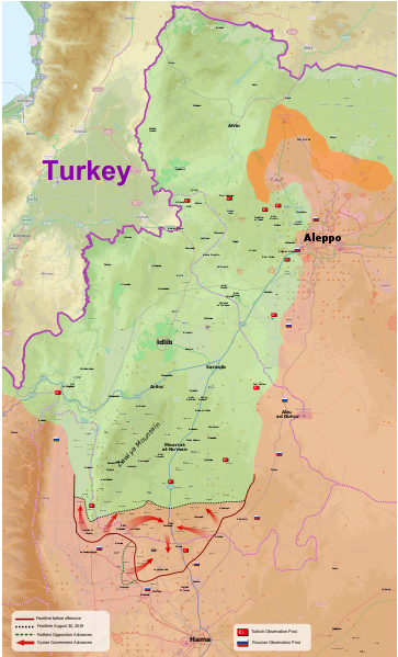 File 2019 Northwestern Syria Offensive svg - Wikipedia.png