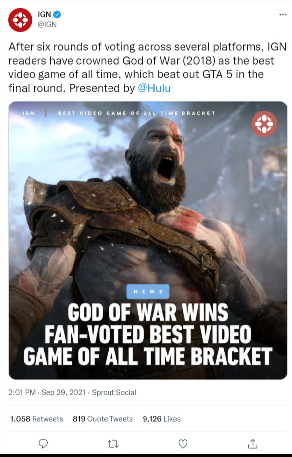 IGN on Twitter   After six rounds of voting across several platforms, IGN readers have crowned...png