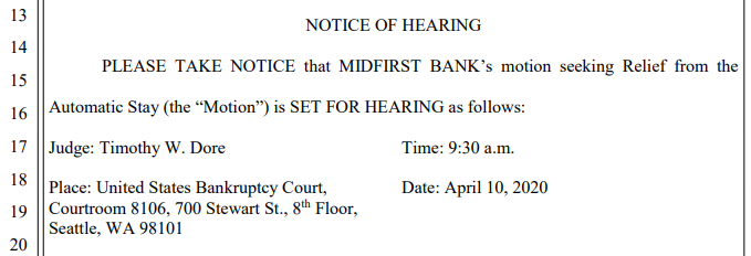 MidFirst Bank's Relief from the Automatic Stay motion seeking.PNG