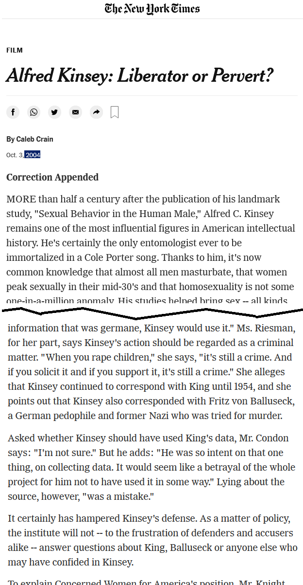 NYT Alfred Kinsey_Liberator or Pervert article excerpt.png
